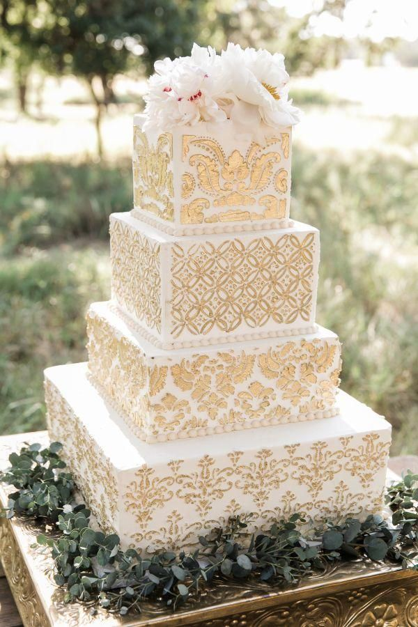 Beautiful Square Wedding Cakes