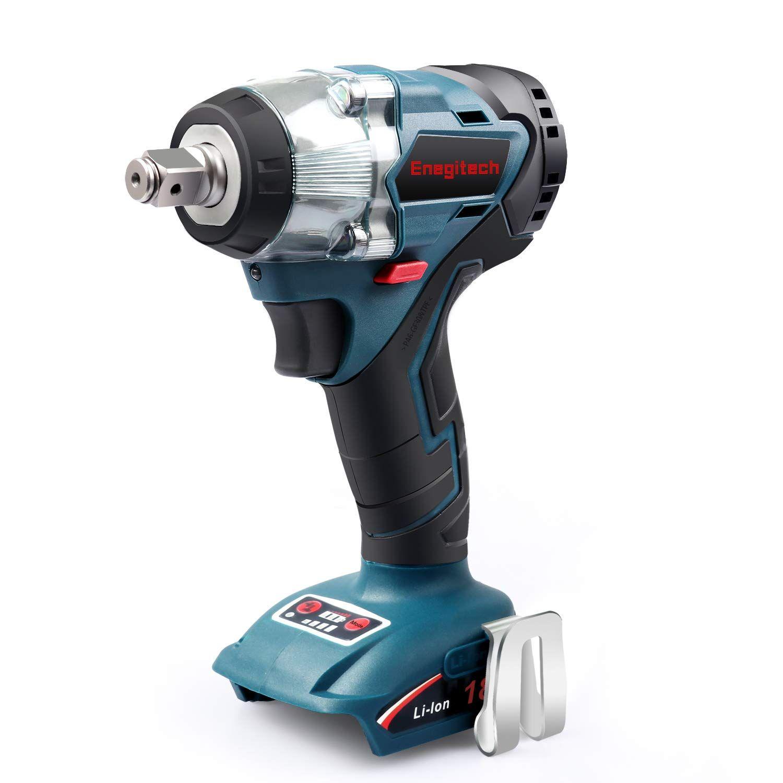 Enegitech 18V Cordless Impact Wrench Brushless, 4 Rev 1/2â
