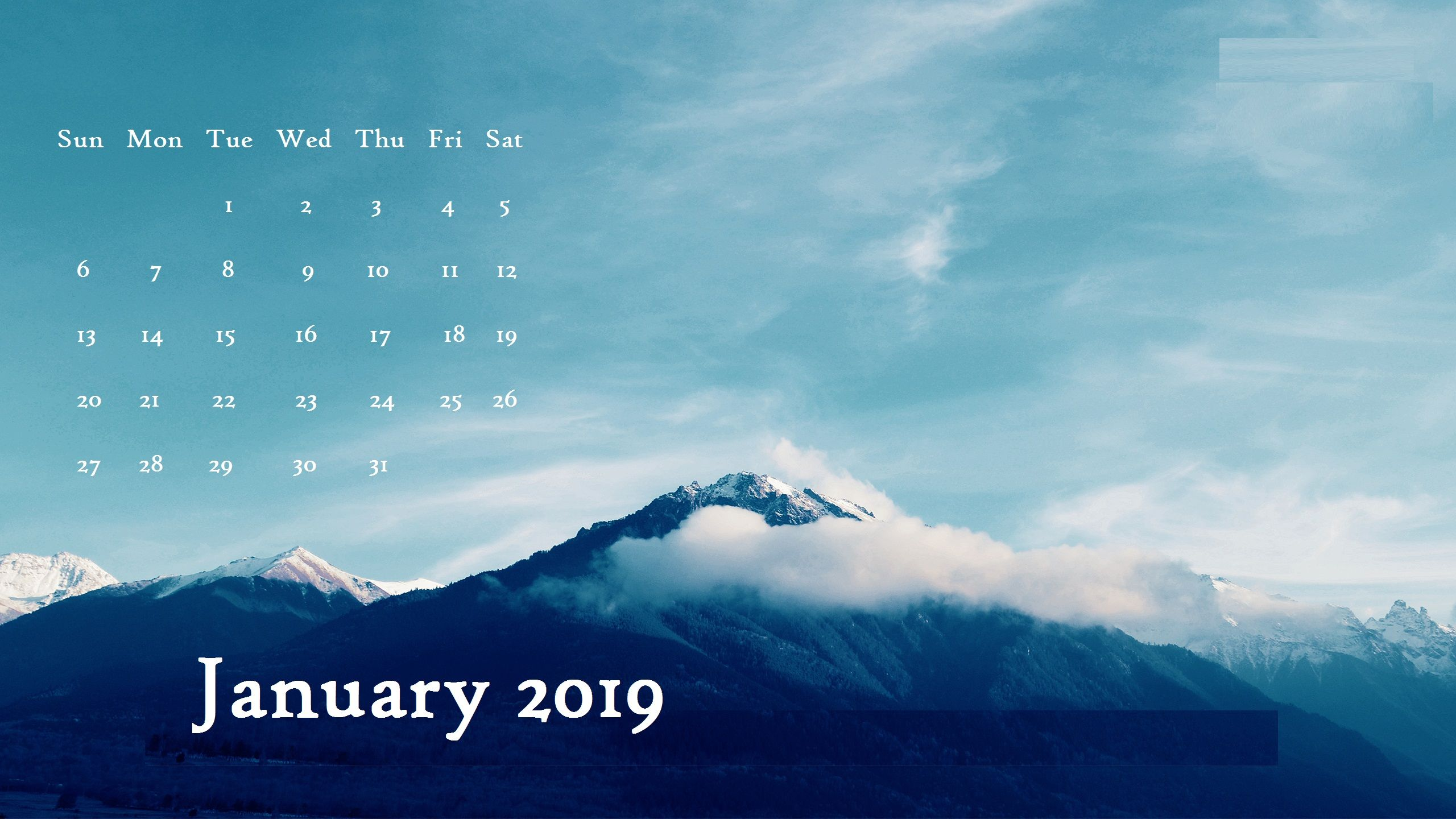 January 2019 Desktop Calendar Wallpaper Max Calendars