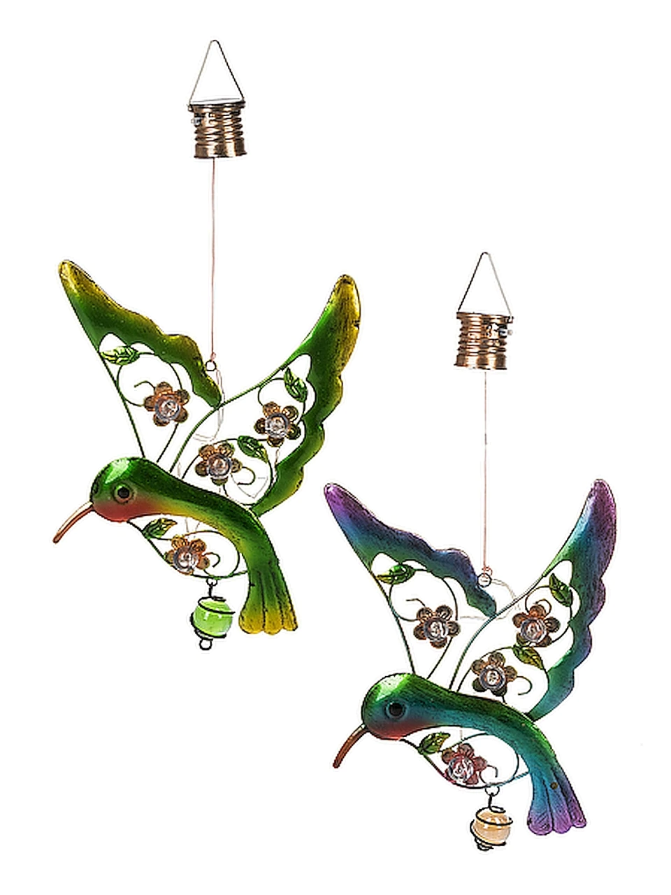 4 items Gift For Mom Patio Wall Hooks Hummingbird Butterfly Spring Garden