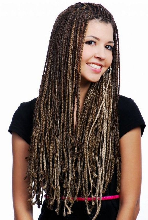77 Micro Braids Hairstyles And How To Do Your Own Braids Braided Hairstyles Hair Styles Braids With Extensions