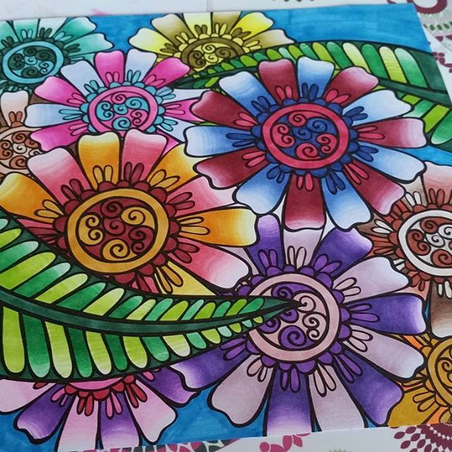 lack_maus their stunning colouring page done using the