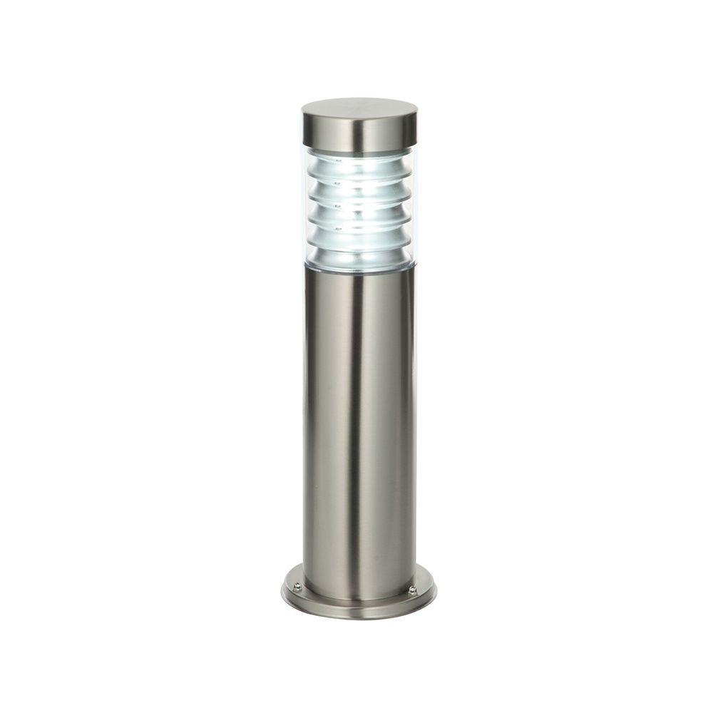 Endon Roko outdoor bollard IP44 3.5W Marine grade brushed stainless steel /& pc