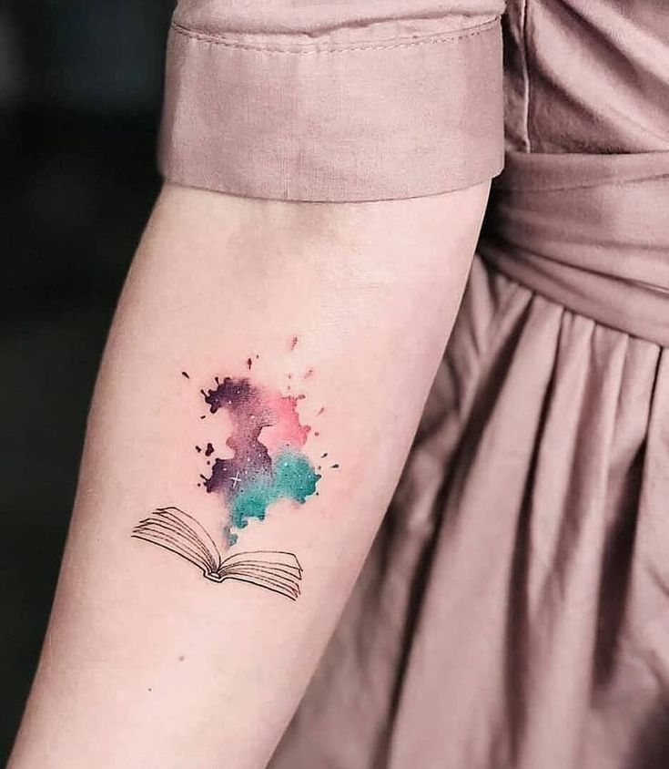 Photo of watercolor book tattoo ❤📖✨❤📖✨❤📖✨❤ , #book #tattoo #waterc…,watercolor book tattoo ❤📖✨❤📖✨❤📖✨…
