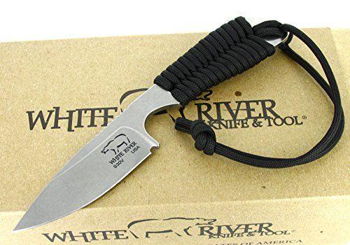 White River Knife & Tool Backpacker Hunting Knife Black P...