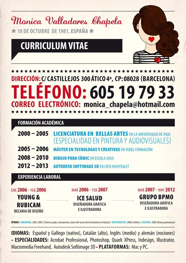 curriculum by moni valladares  via behancevhhgghhjb