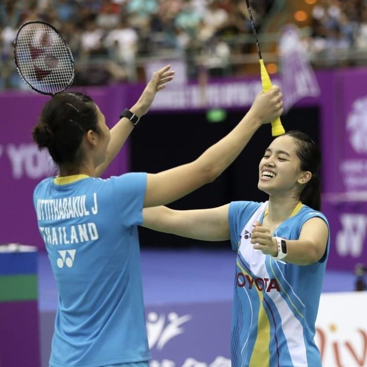 Congratulations To Jongkolphan Kititharakul And Rawinda Prajongjai For Winning The Women S Doubles Sector Of The 2019 Chi In 2020 Social Media Badminton Chinese Taipei