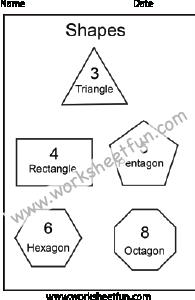 Shapes – Triangle, Rectangle, Pentagon, Hexagon, Octagon – 1 ...