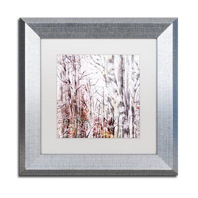 Trademark Art \'Winter Trees\' Framed Graphic Art Print | Products ...