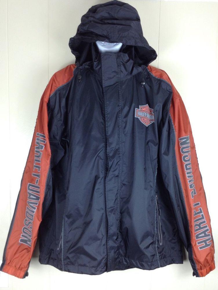 Harley Davidson Mens Rainwear Classic Cruiser Black Rain Jacket Xl 98245 09vm Harleydavidson Motorcycle Black Rain Jacket Rain Jacket Rain Wear