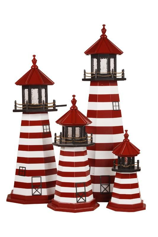 Amish Made West Quoddy, ME Wooden Garden Lighthouse
