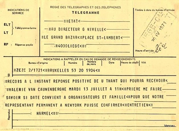 first job : those kind of telegrammes