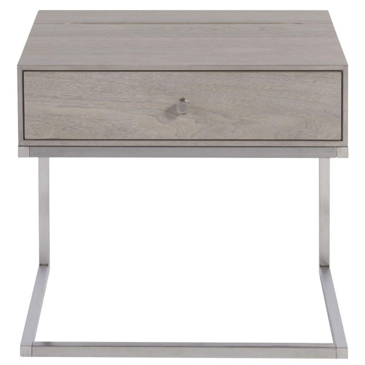 Urban Modern Mist Gray 1 Drawer Nightstand Modern Bedside Table Nightstand Modern Side Table