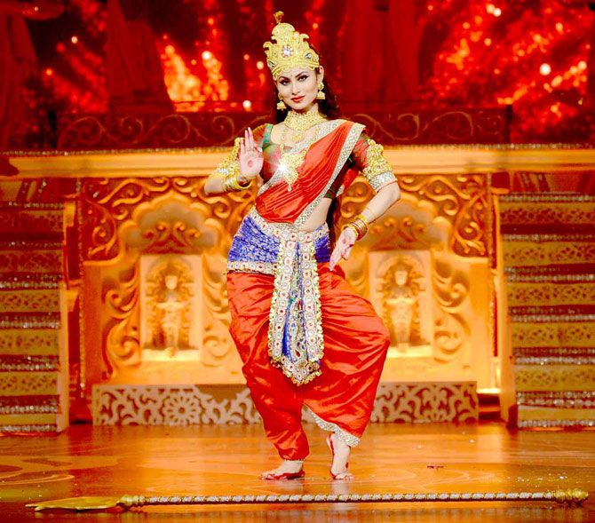 Mouni Roy As Maa Durga At A Shoot For A Dussehra Tv Special