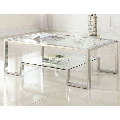 Orren Ellis Mcauley Contemporary Coffee Table In 2021 Coffee Table Coffee Table With Storage Contemporary Coffee Table