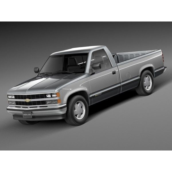 Chevrolet Silverado C1500 Regular Cab 1988 1999 3d Model Chevrolet Silverado Chevrolet Regular Cab