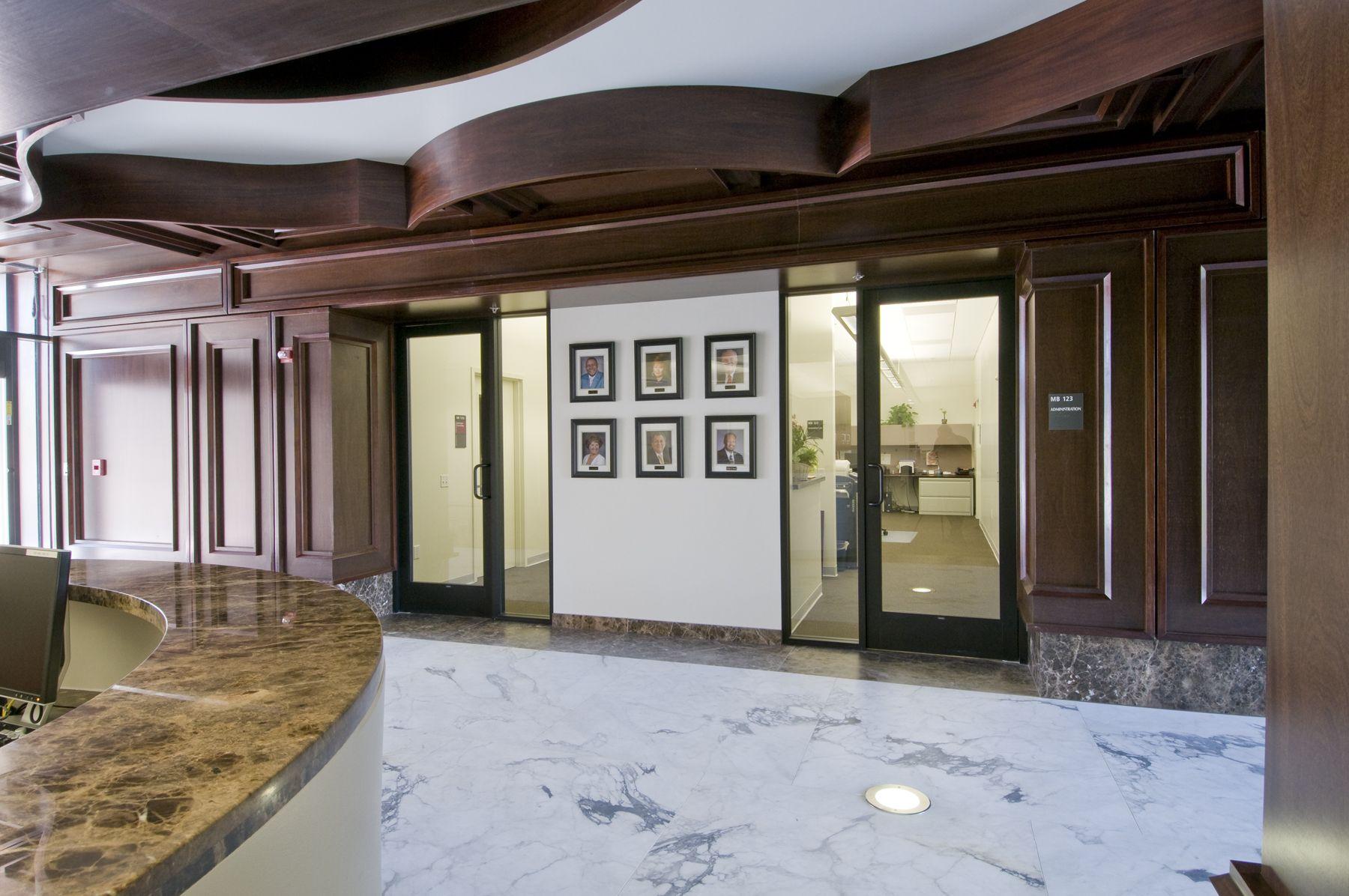 Main Lobby inside the Main Instructional Building at