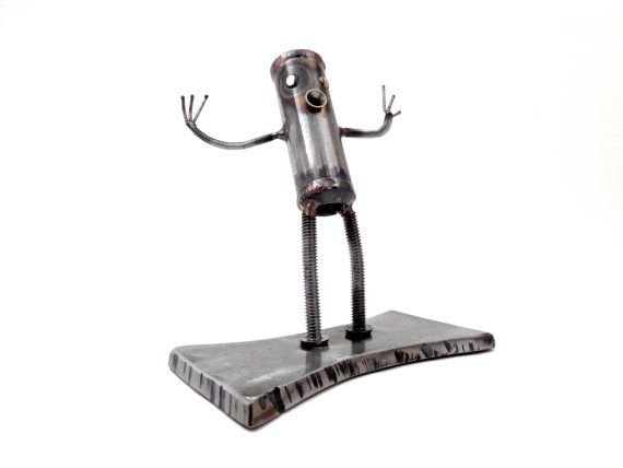 Come at me Bro-Bot a Metal Sculpture by BrownDogWelding on Etsy, $140.00
