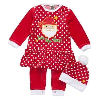 b7e3087ba10b ... Zippy y consigue uno. Pijama navidad para bebés Papá Noel niña con gorro
