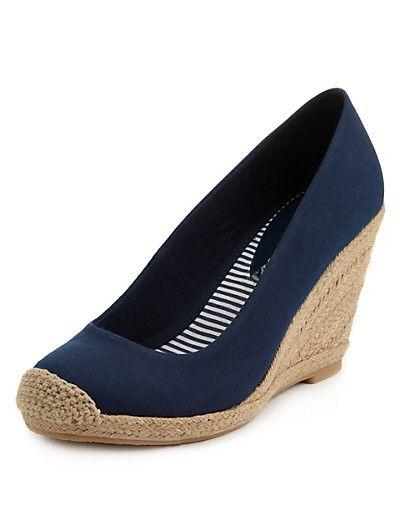 shoes wedges, High heels, Wedge espadrille