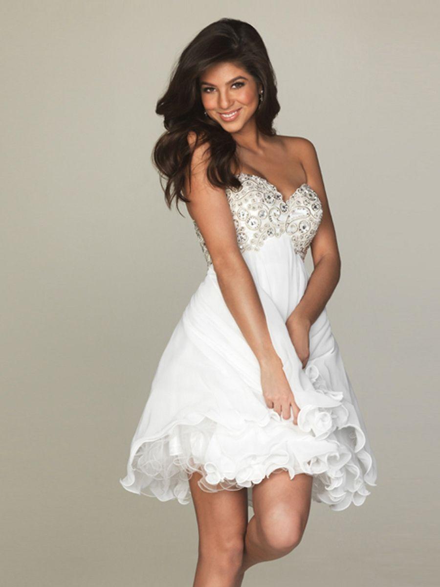 1st Weddingdresses Com White Prom Dress White Dress Party Short Wedding Dress [ 1200 x 900 Pixel ]