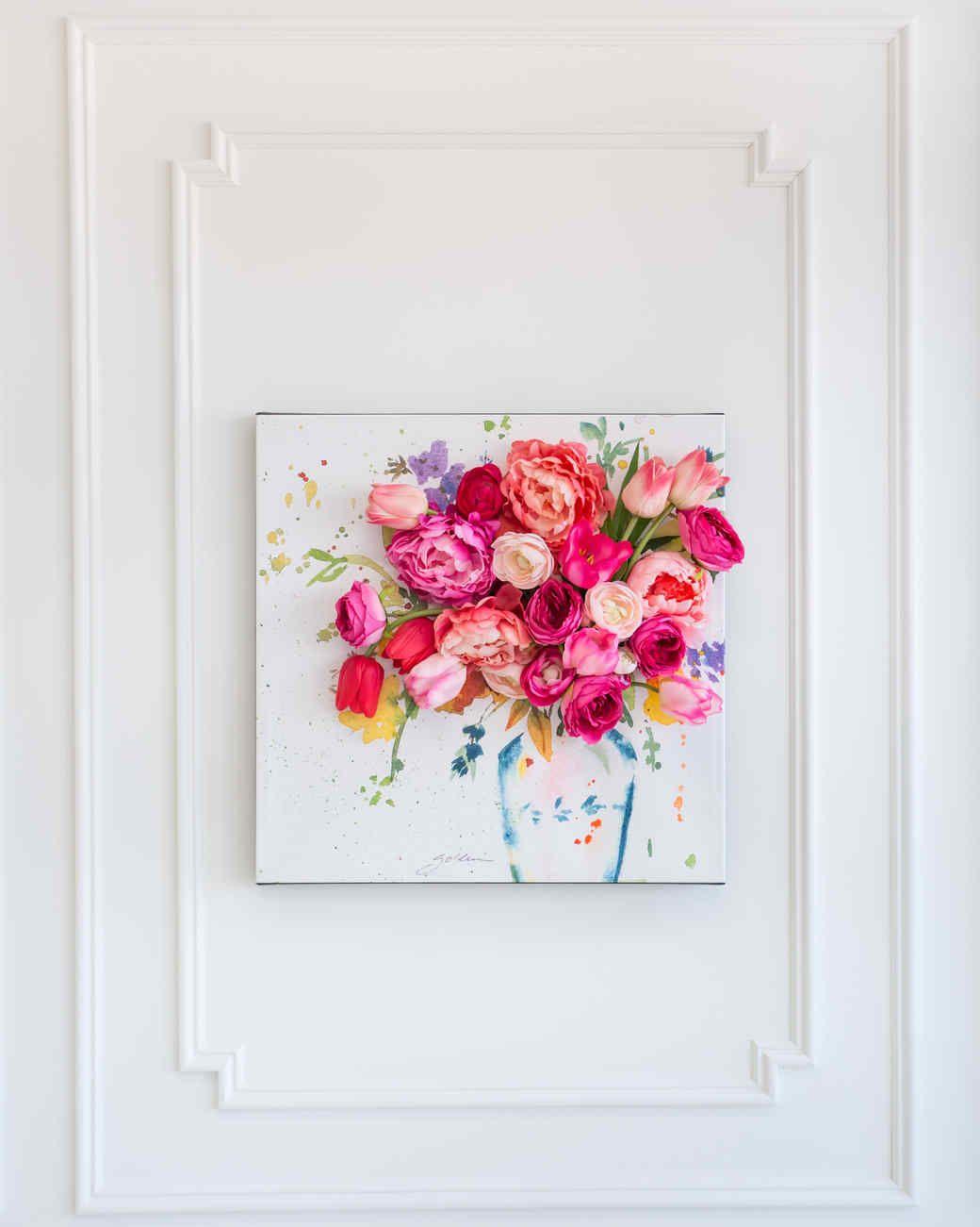 3 D Floral Canvas Wall Art Crafts Floral Wall Art Diy Wall Art