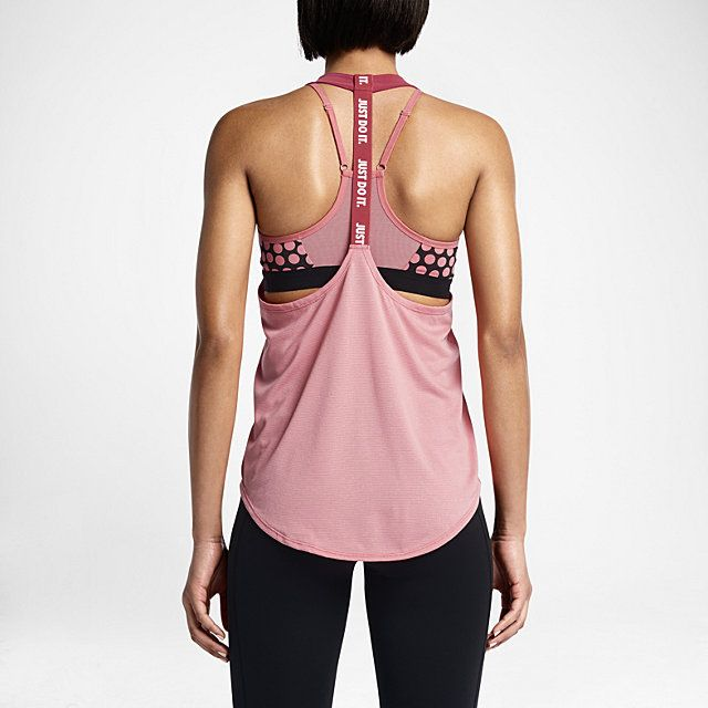 Workout gear — Nike Elastika Women's Training Tank Top in Sunblush