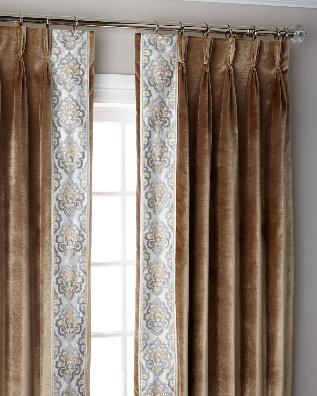 Caramel Provence 3 Fold Pinch Pleat Blackout Curtain Panel 108