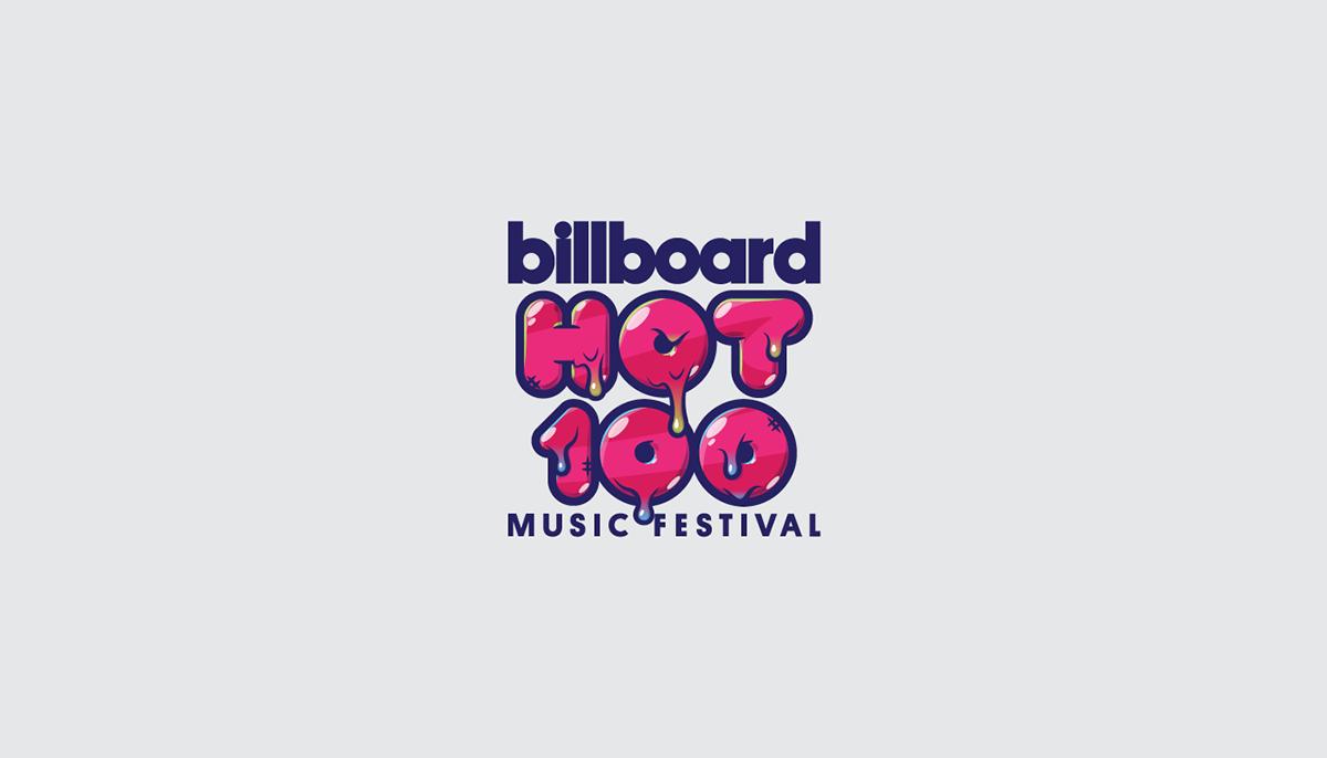 Billboard Hot 100 Festival 2016 Branding Creative On Behance Billboard Hot 100 Branding Hottest 100