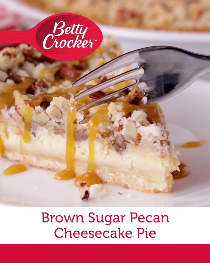 Brown Sugar-Pecan Cheesecake Pie