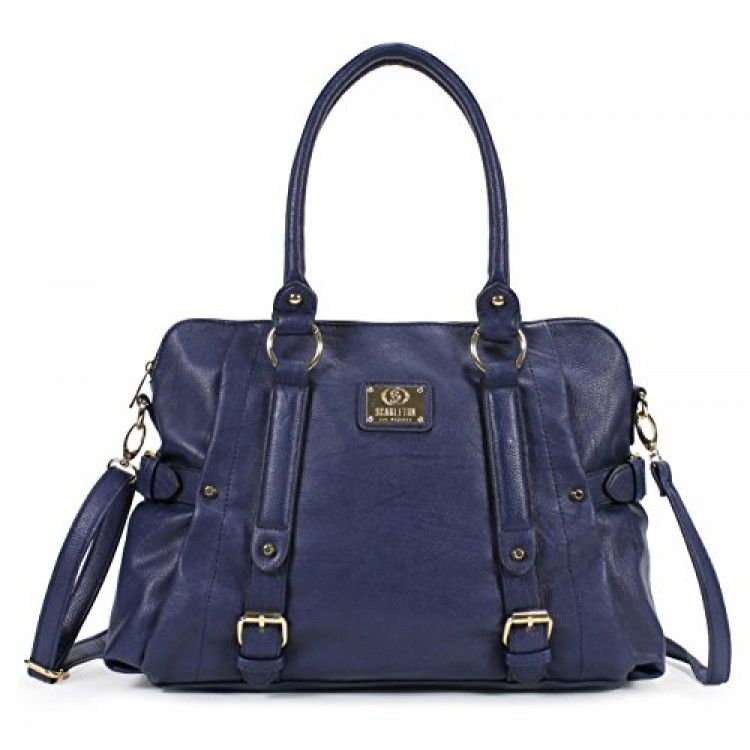Scarleton Medium Belt Accent Tote Bag H126419 - Navy