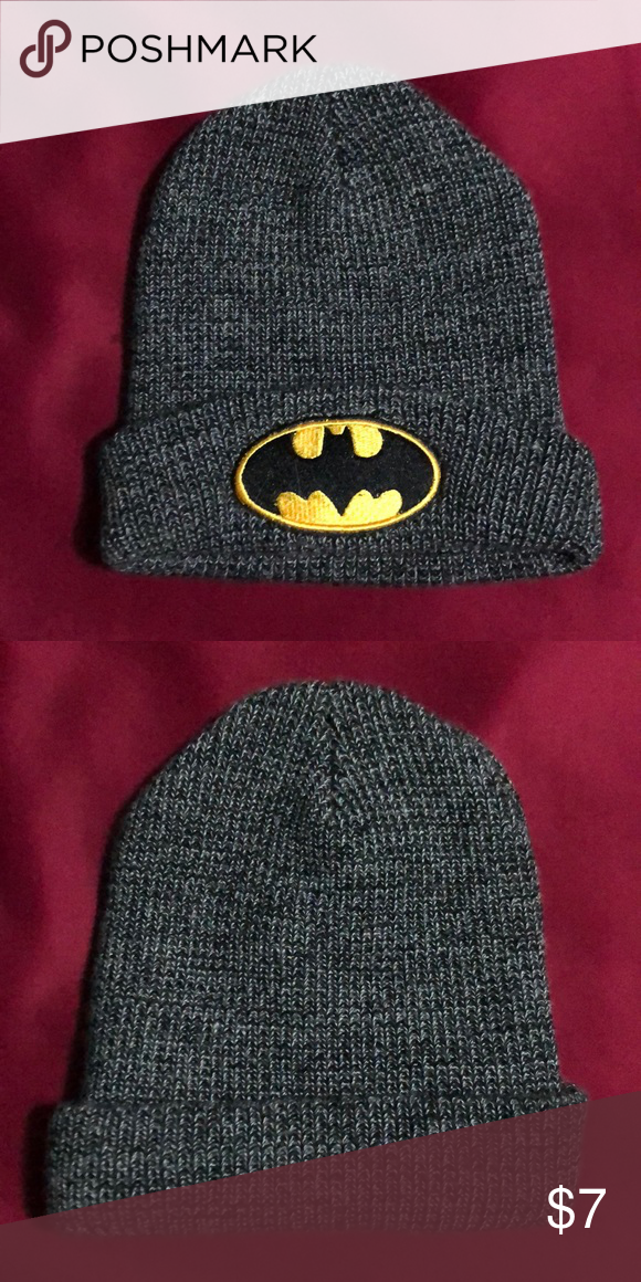 9b286d1d23a Batman Beanie Batman Unisex Beanie Knit In Excellent Used Condition Hot  Topic Accessories Hats