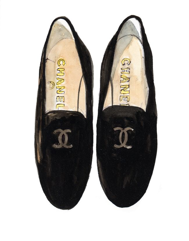 Chanel Loafers Sketch Shoes Illustration Loafers Men Chanel
