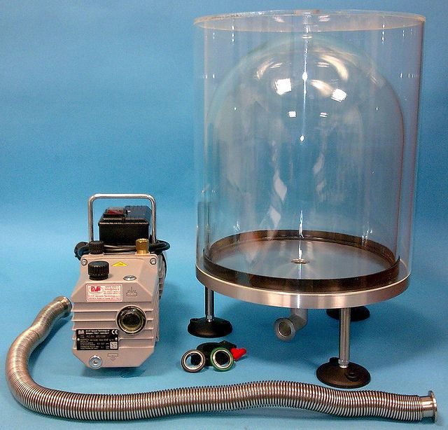 BJ-12-VF  Belljar system complete with Vacuum Pump  by Applied_Vacuum, via Flickr