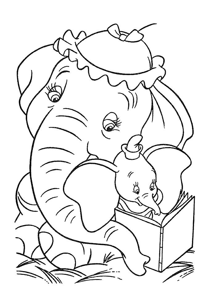 Pin by Sara Delk on Coloring Pages! | Elephant coloring page ...