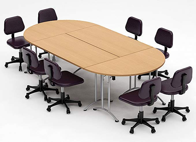 Amazon Com Teamworktables 2912 Compact Space Maximum Collaboration Meeting Seminar Conference Tables Assembled Conference Table Table Round Conference Table