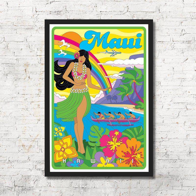 Maui Poster Maui Wall Art Maui Art Print Maui Maui Wall Etsy Hawaii Art Print Hawaii Wall Art Hawaii Art