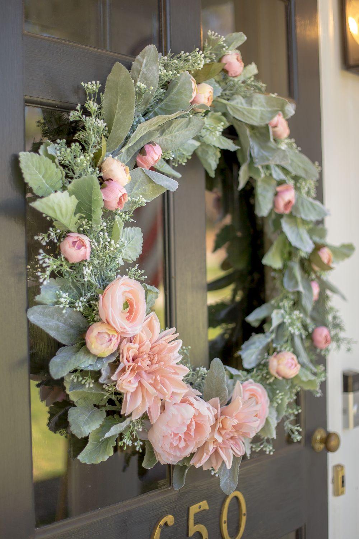 Diy Sage And Blush Spring Wreath Spring Wreath Tutorial Spring