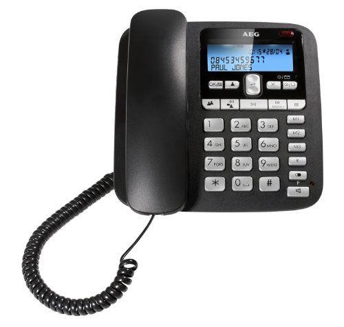 http://ift.tt/1P8Qvta AEG VOXTEL C115 schnurgebundenes Telefon mit LC-Display und Anrufbeantworter ##s