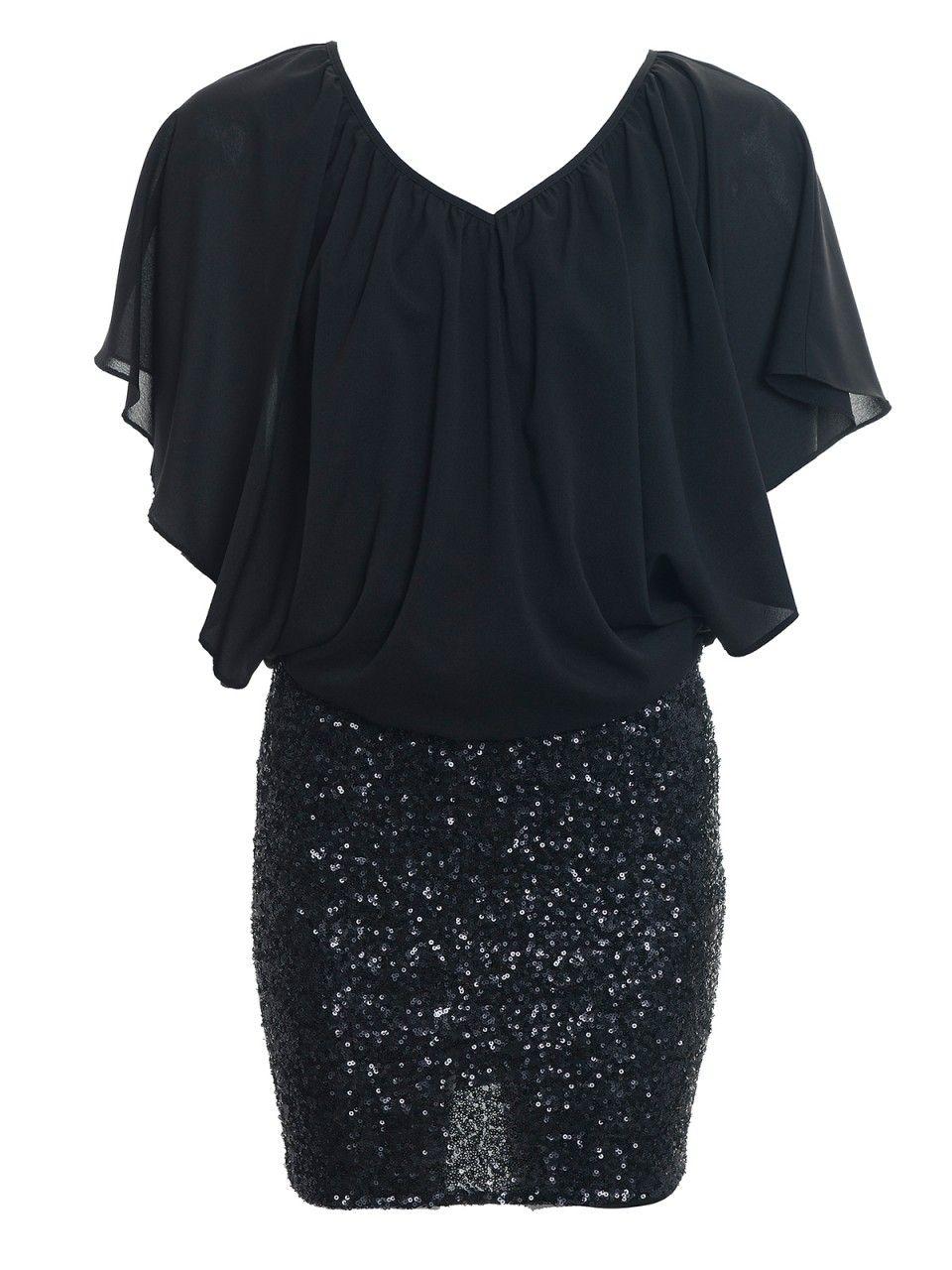 Adelphi Black/Black Sequin Tunic