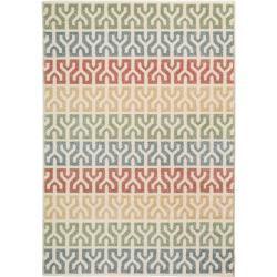 benuta Kurzflor Teppich Justin Multicolor 200×290 cm – Moderner Bunter Teppich für Wohnzimmer benuta