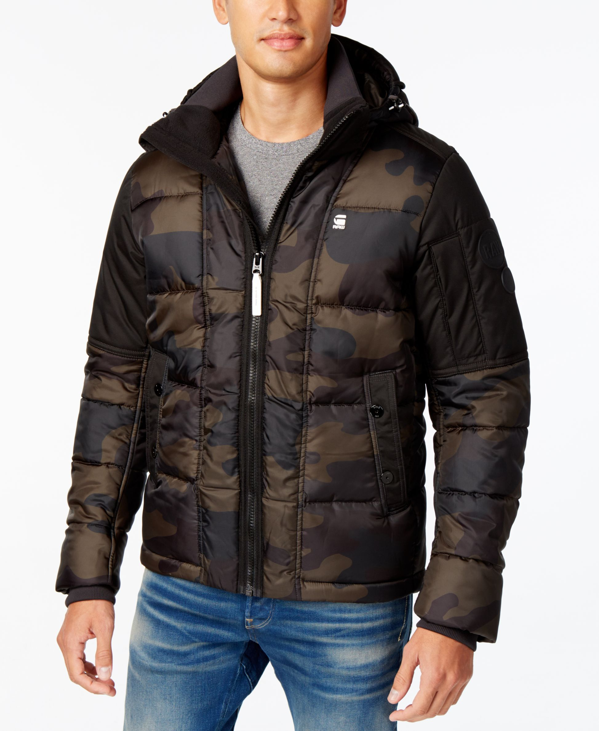 2d635ef0f23d9 G-Star Raw Men's Whistler Hooded Camo Jacket | Products | Camo ...