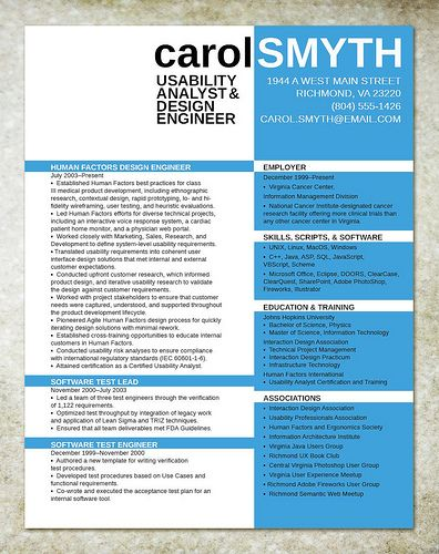 Resume Design For IT Engineer By Jolieodell, Via Flickr  Resume Design Examples