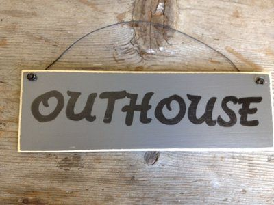 Outhouse sign | It's a Southern Thang | Home Decor, Southern living