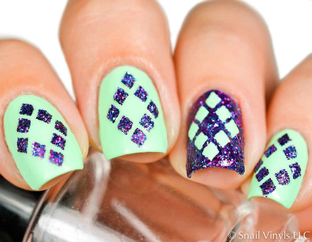 Diamond Nail Stencils | Nail stencils, Diamond nails and Diamond ...