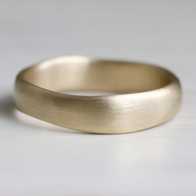Unique Wedding Ring Simple Gold Ring Organic Wedding Band Etsy Wedding Rings Simple Wedding Rings Unique Gold Rings Simple