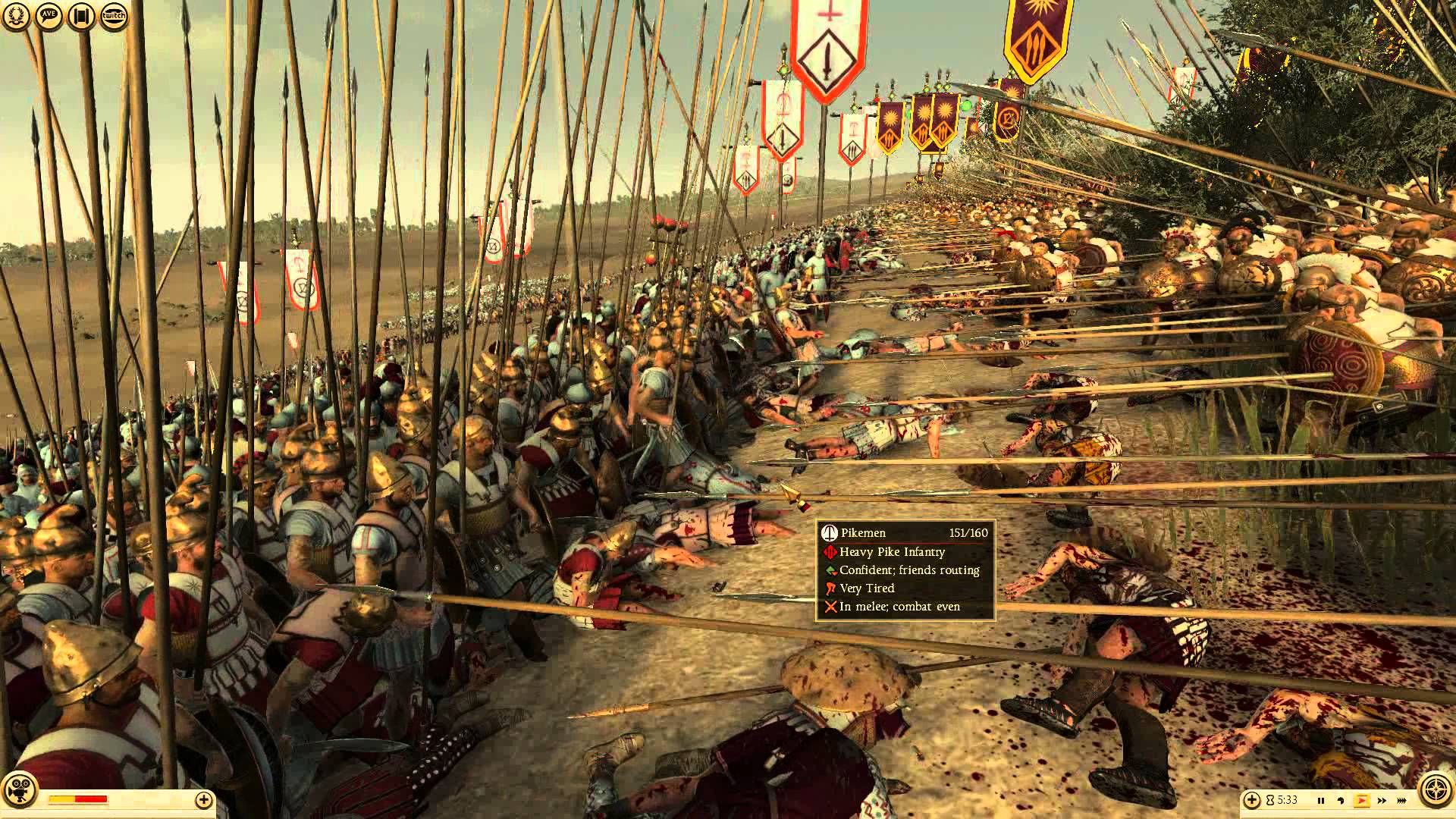 Total War Rome 2: Macedonian Phalanx slugs it out against the