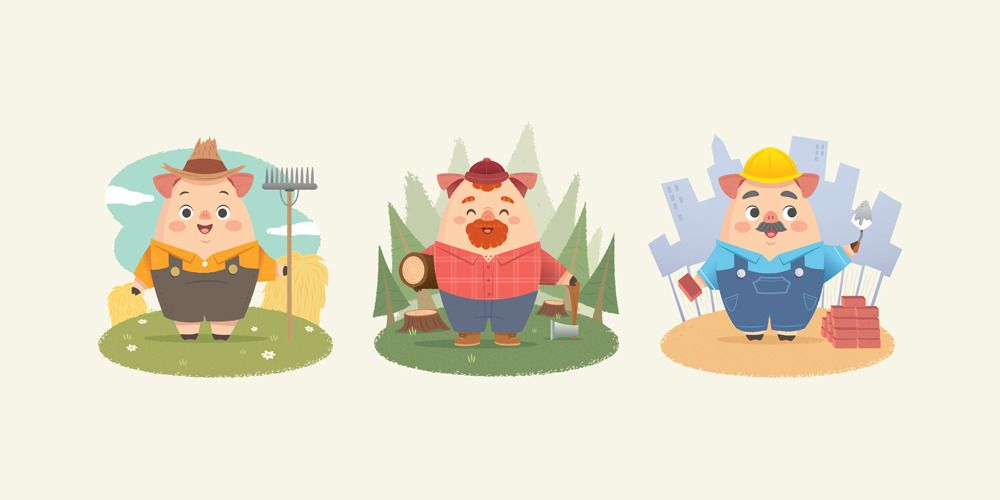 """Image of """"The Three Little Pigs"""" by Jerrod Maruyama"""
