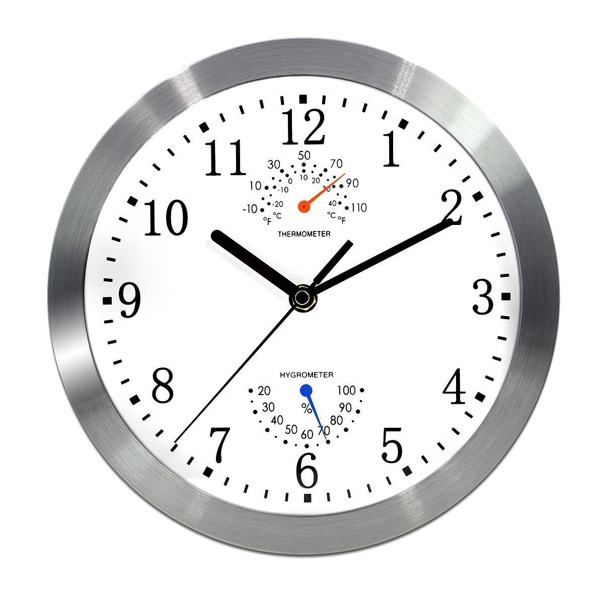 magho battery operated silent non ticking indoor wall on wall clocks battery operated id=19788