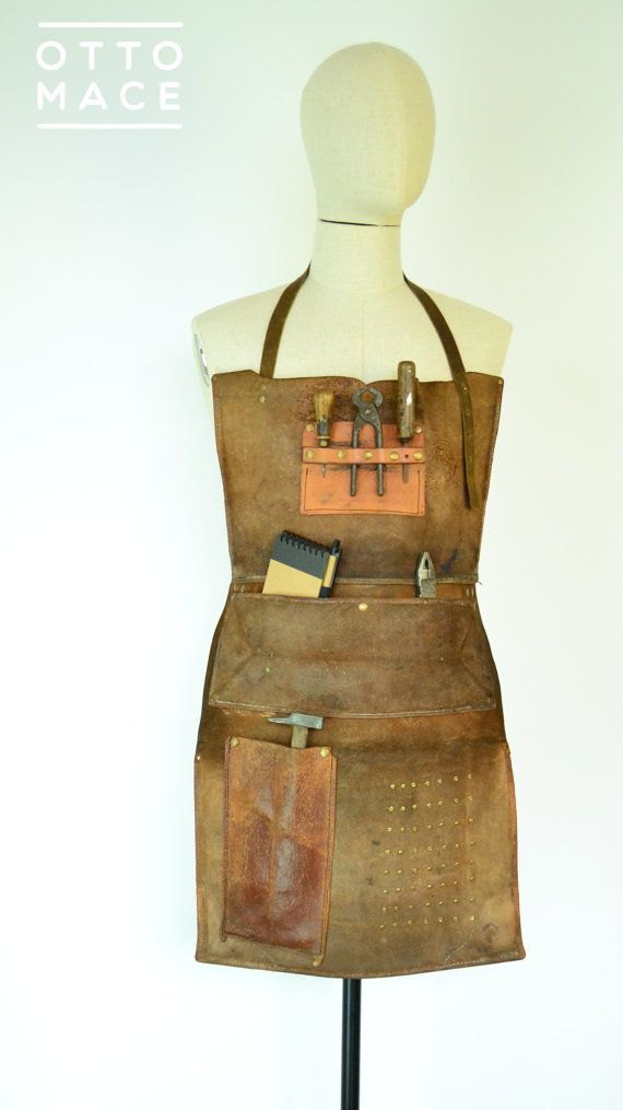 Delantal APRON - PIEL recycled LEATHER